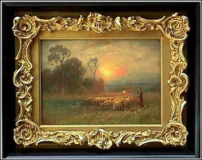 oil painting gilded frames oil painting