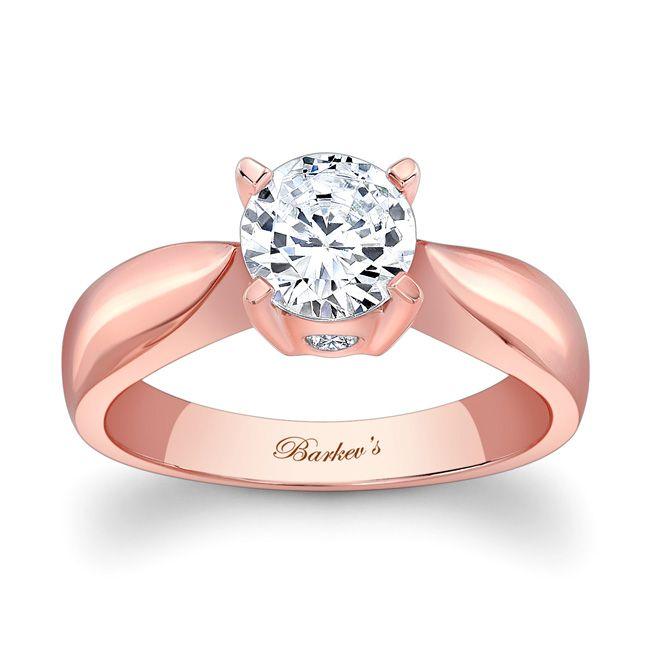 Barkev's Rose Gold Engagement Ring 5196LP