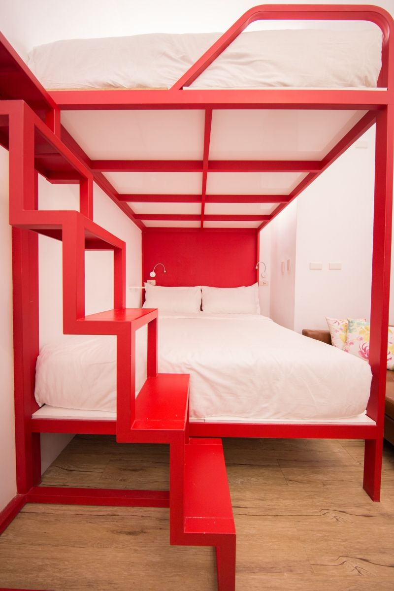 Modern Homestay Offers Red Bunk Beds For Backpackers Check More
