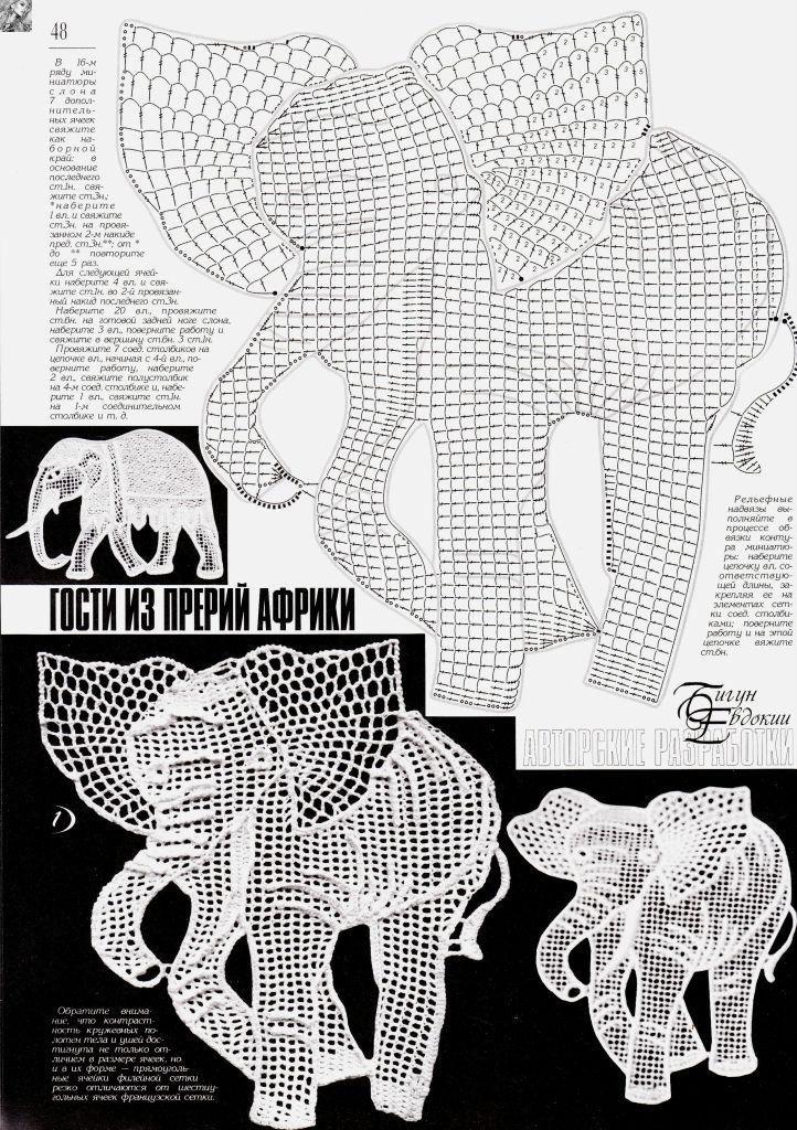 Famoso Patrón De Ganchillo Libre De Elefante Imágenes - Manta de ...