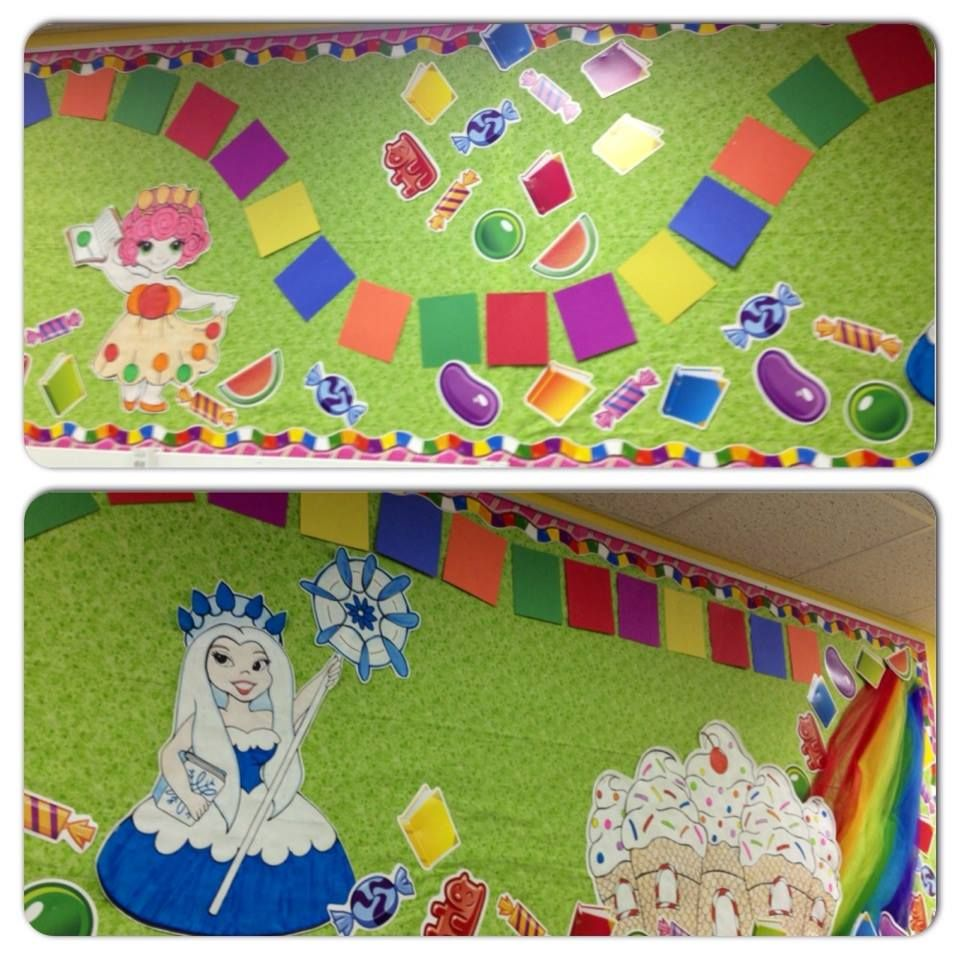 Library Candyland / Candy Land bulletin board | Pre-school | Pinterest