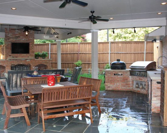 Ideas For Back Porch Fireplace With Grill And Smoker Porch Grill