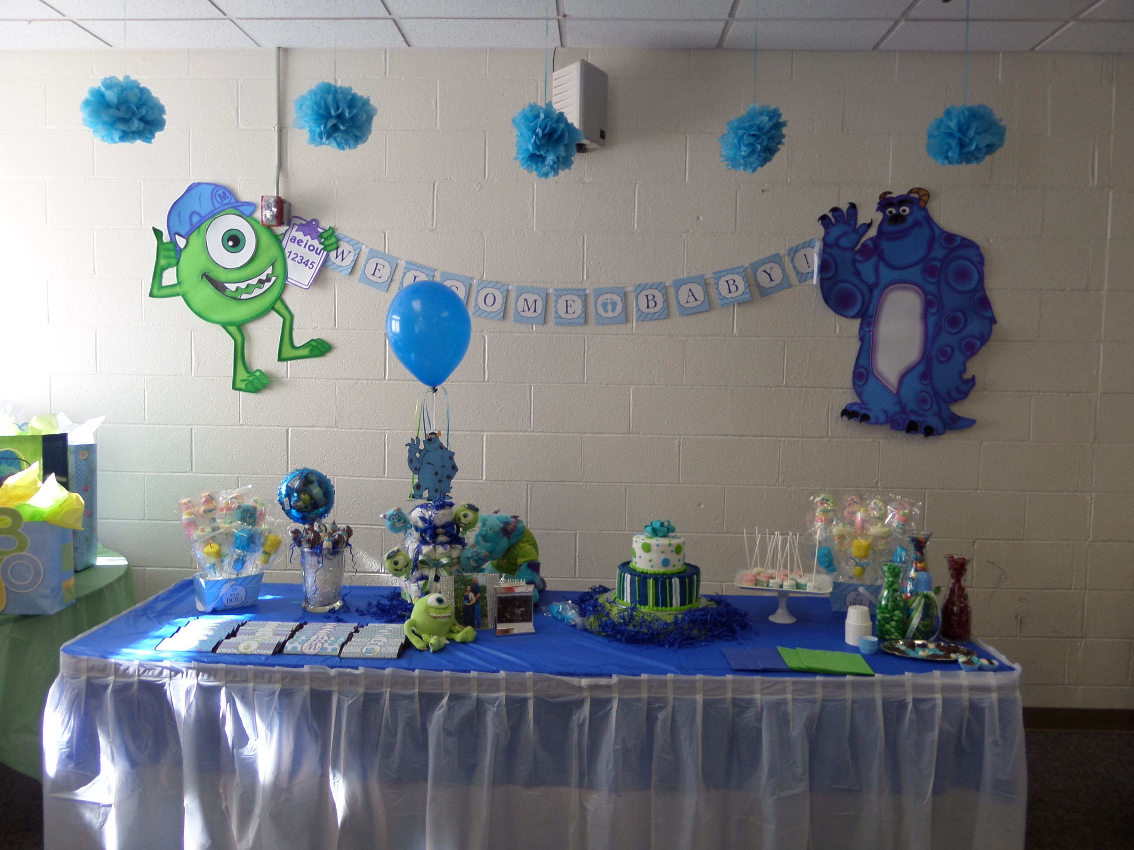 monsters inc baby shower baby pinterest