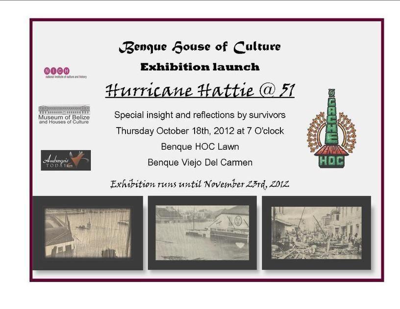 Hurricane Hattie 51 Exhibition Launch Cayo Hurricane Product Launch Exhibition