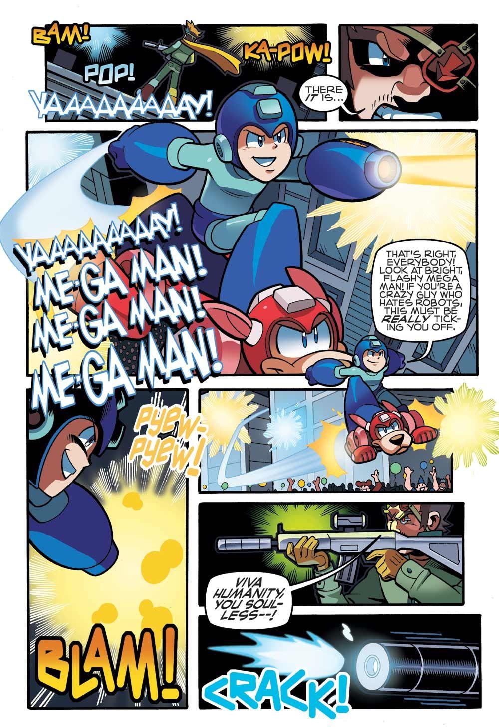 See Mega Man Face Off Against The Evil Emerald Spears In Mega Man Vol 6 Breaking Point On Sale Today Mega Man Mega Man 6 Man