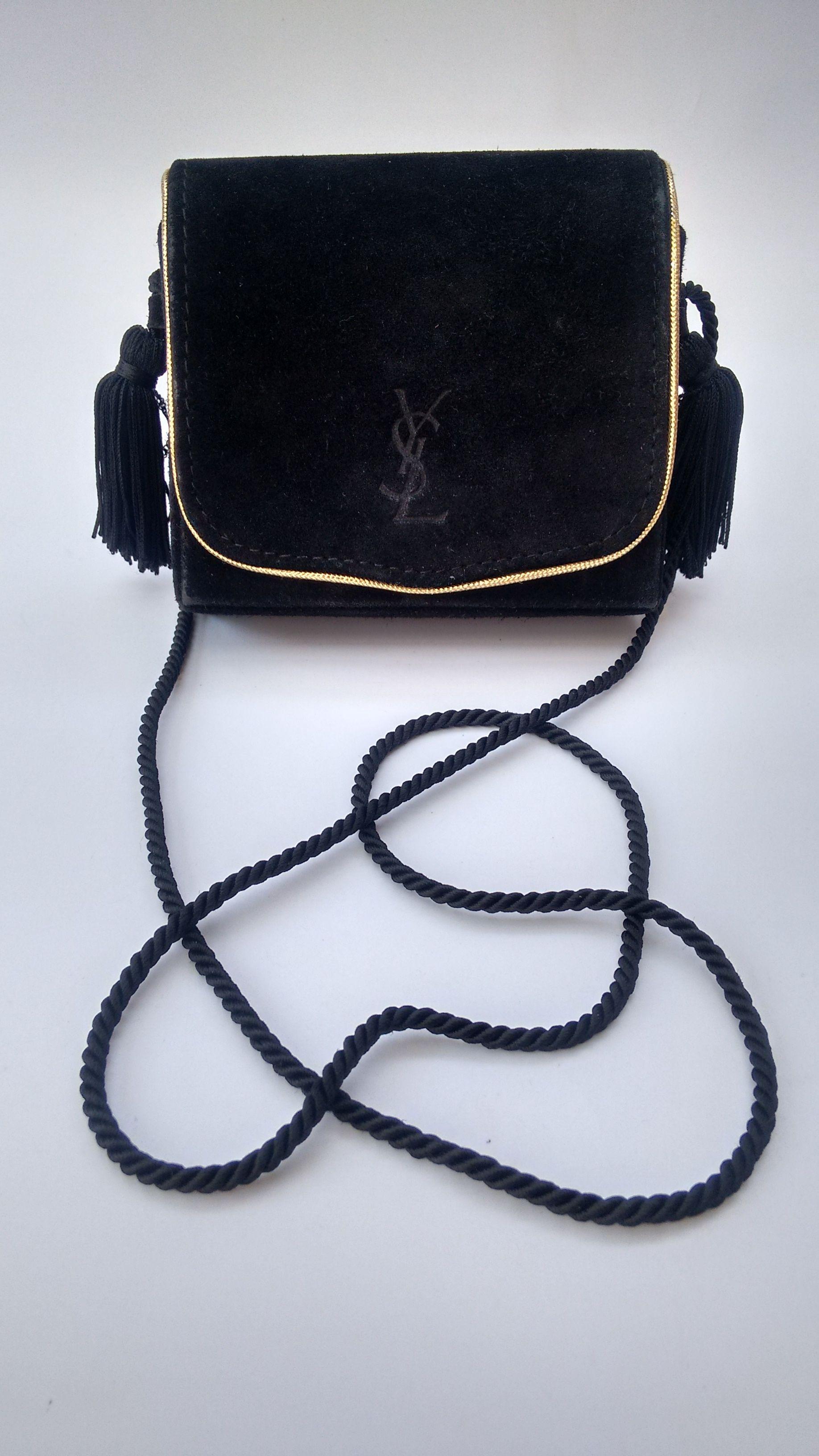 Ysl Bag Yves Saint Laurent Vintage Black Suede Shoulder Bag Yves Saint Laurent Vintage Bags Bags Designer