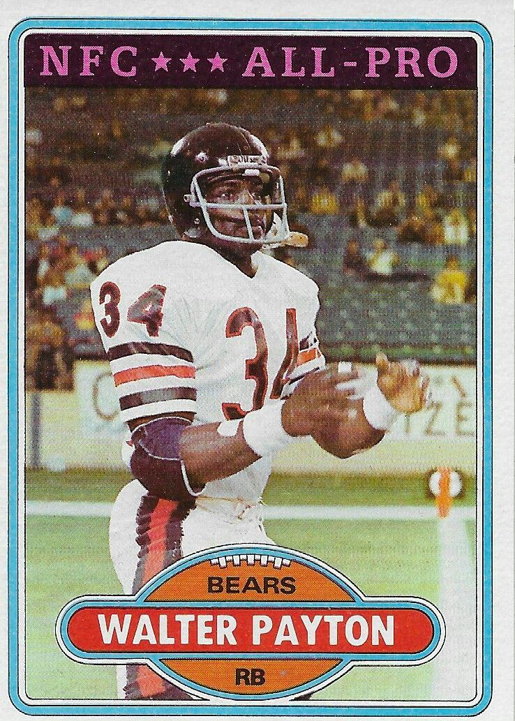 1980 Topps Walter Payton Football Cards Bears Football