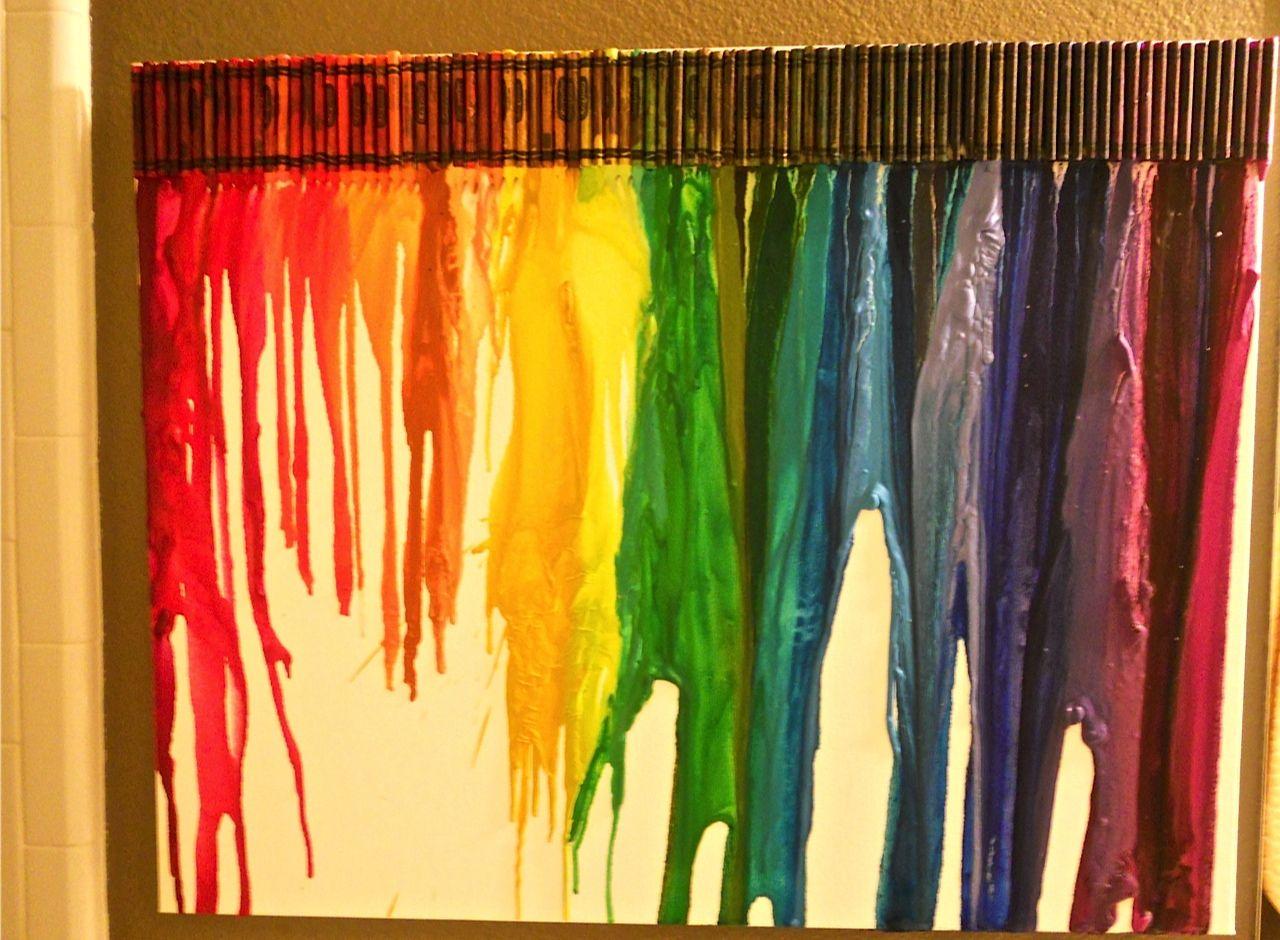 Crayon Art Wall Decor for playroom, kids room | DIY Projects ...