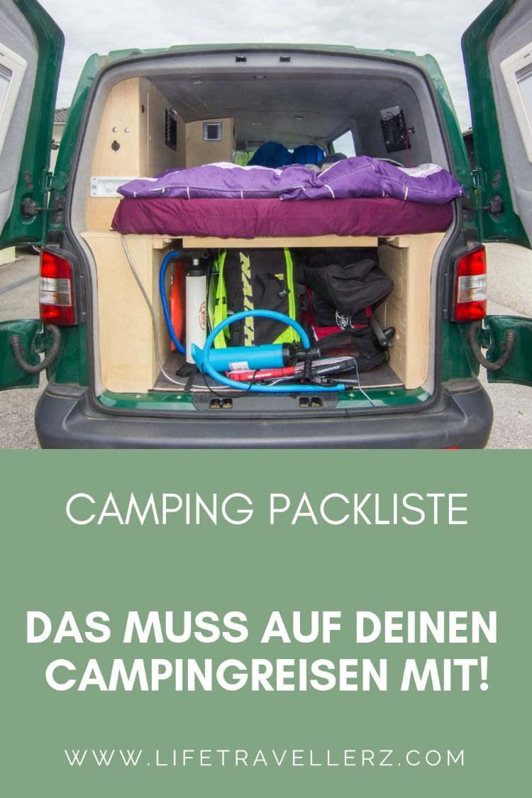 Photo of Packing list camping for traveling by van