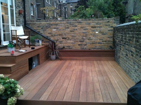 Kleiner Innenhof Ideen Terrasse Bangkirai Holz New House
