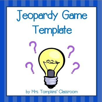 Jeopardy Game Powerpoint Template  Activities Classroom