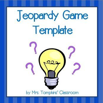 Jeopardy Game PowerPoint Template | Activities, Classroom activities ...