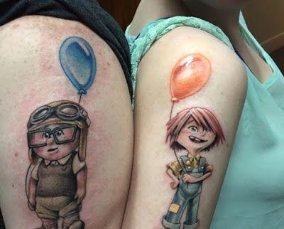 Tatuagem de Casais - Up Nas Alturas
