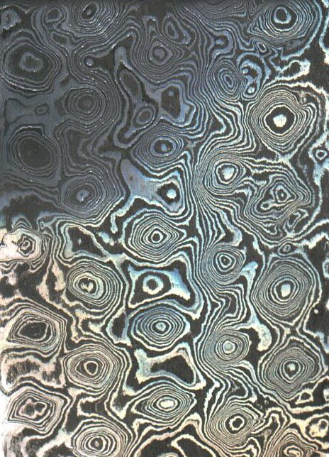 Damascus Pattern Welded Steel IN STOCK Click Image To Close Unique Pattern Welded Steel
