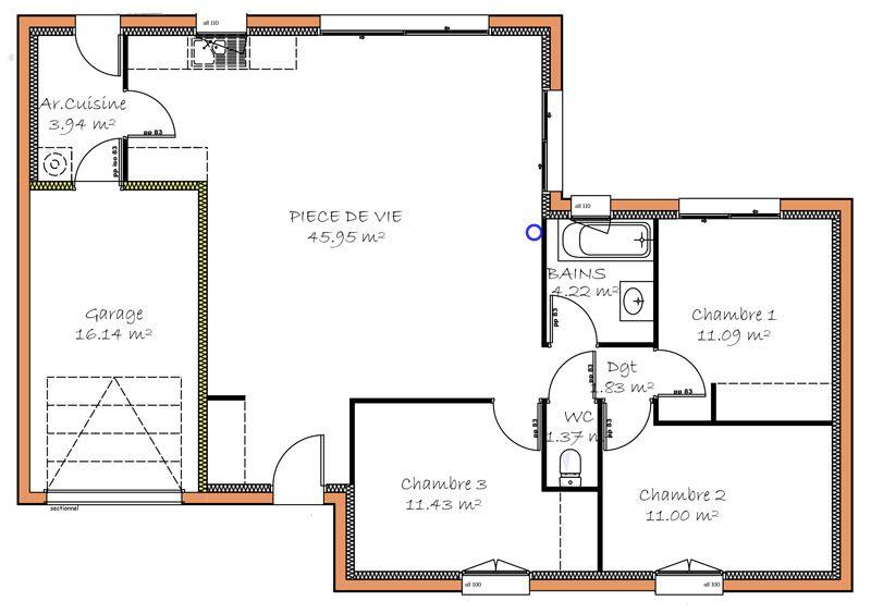 plan de maison 2 pieces