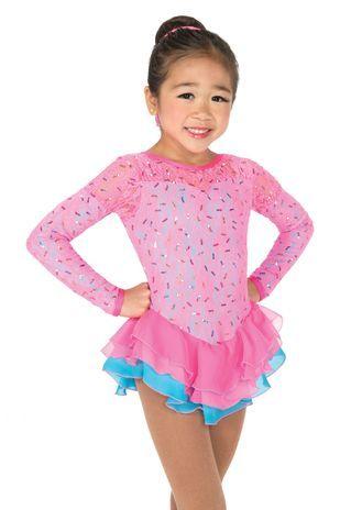 Jerrys Figure Skating Dress #44 - Candy Floss Figure Skating Dress