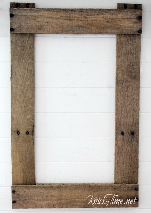 DIY Rustic Frame Seed Bag via KnickofTime.net | The Board Place ...