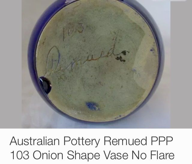Remued Pottery Australia, signed