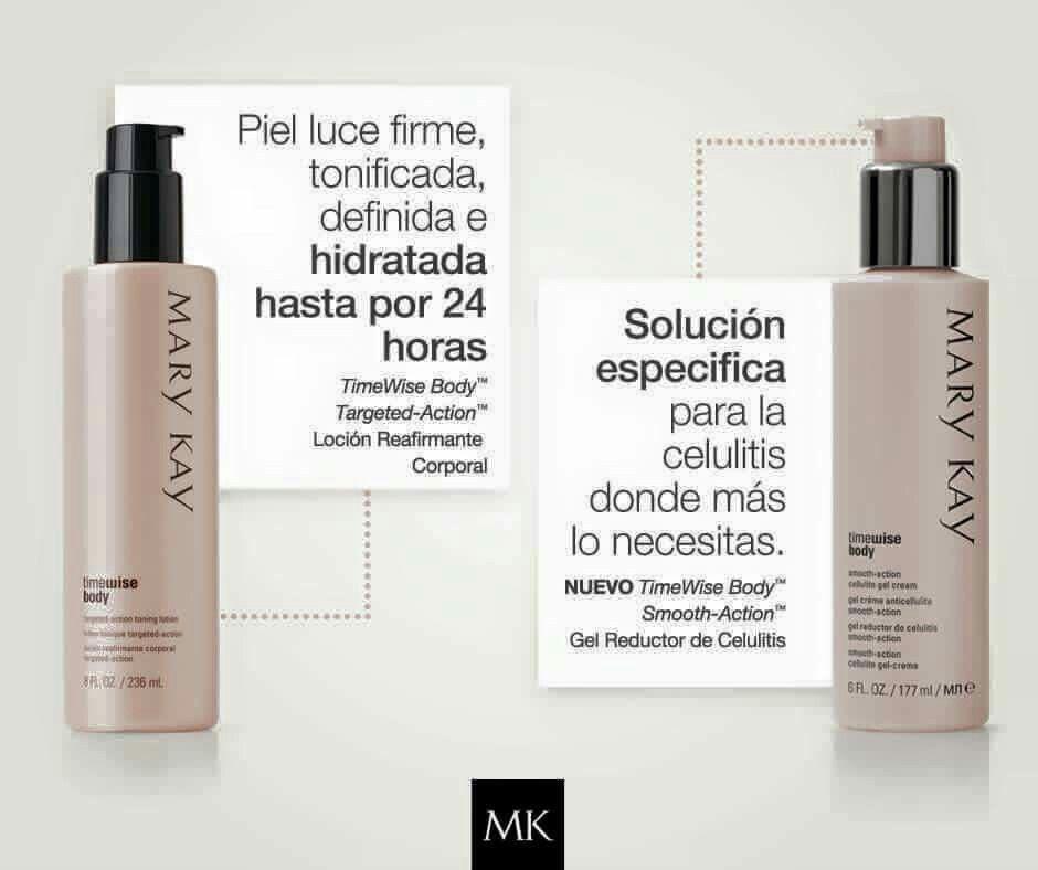 Para cuidar tu piel y controlar la celulitis estos son tus aliados. www.marykay.es/calimartin y www.rincondebelleza.com