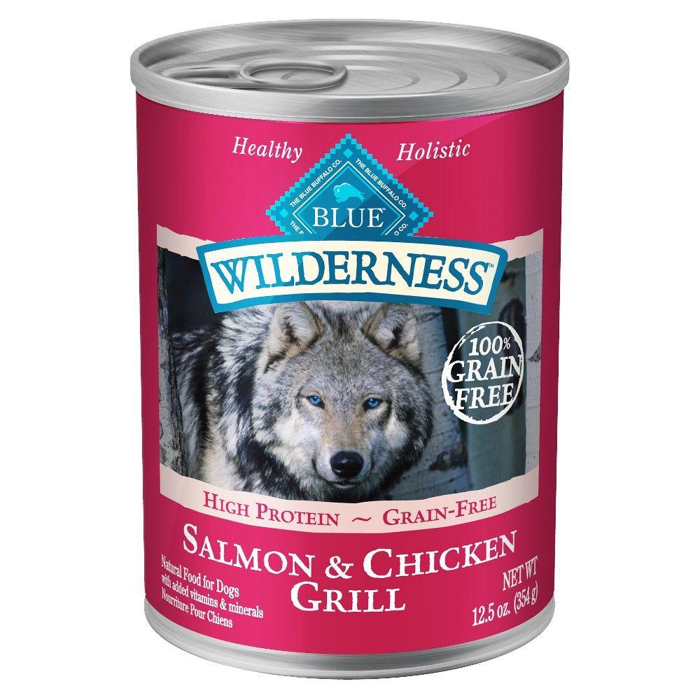 Blue Buffalo Wilderness 100 Grain Free Salmon Chicken Grill Wet