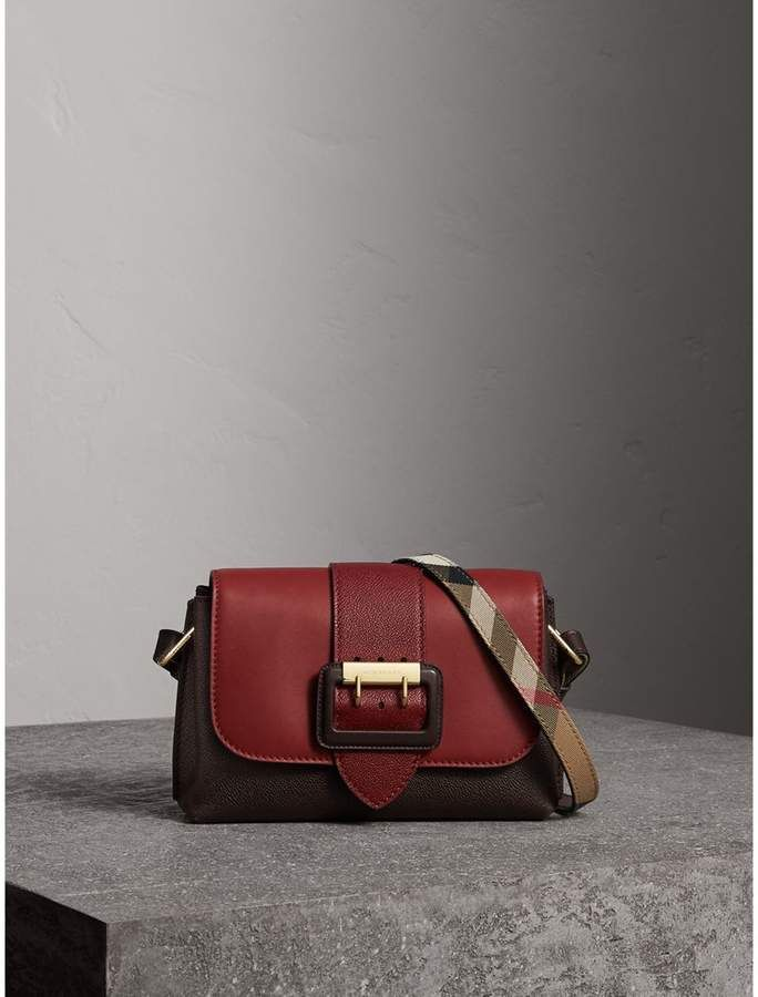 fbcacb3372c6 Burberry The Buckle Crossbody Bag in Colour-block Leather