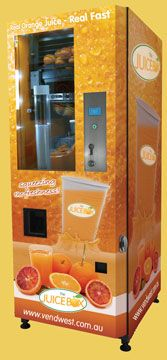 Orange vending machine vending pinterest - Machine a orange pressee ...