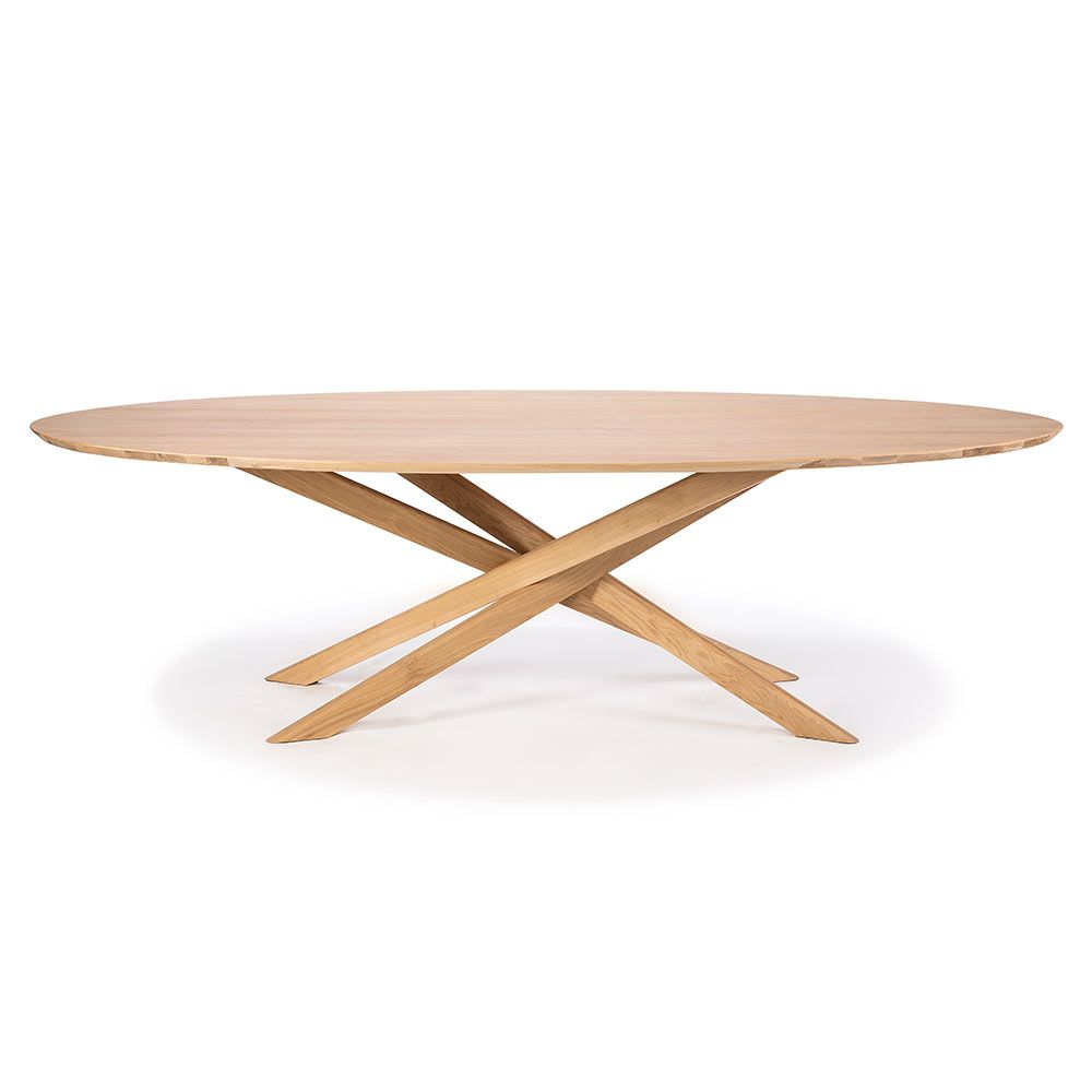 Mikado Oval Dining Table Oak The Mikado Dining Table Designed By Alain Van Havre Has Been One Of Our Most R Oval Table Dining Oak Dining Table Dining Table