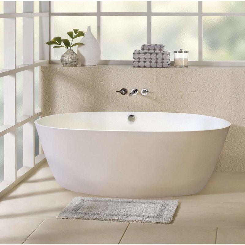 Photo of Freestanding Freestanding Bathtub in Acrylic Resin and Fiberglass Design ECLIPSE – ECC3175BI