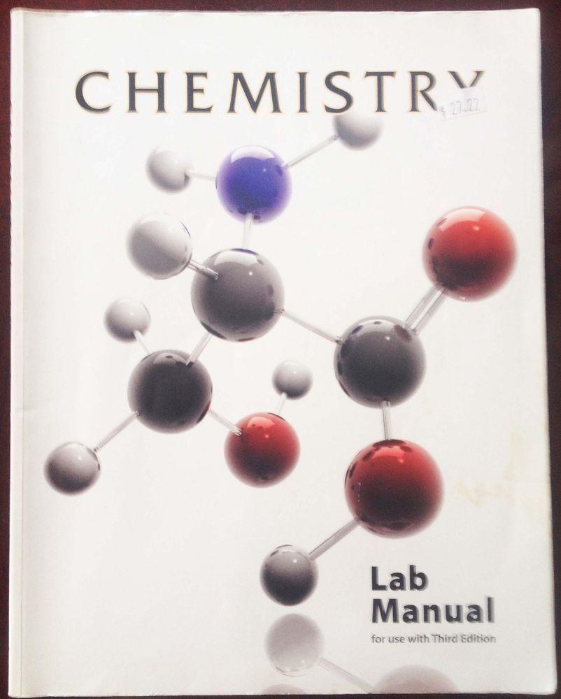 BJU Prensa química Manual De Laboratorio Tercera Edición in Libros, Libros de textos, educación | eBay