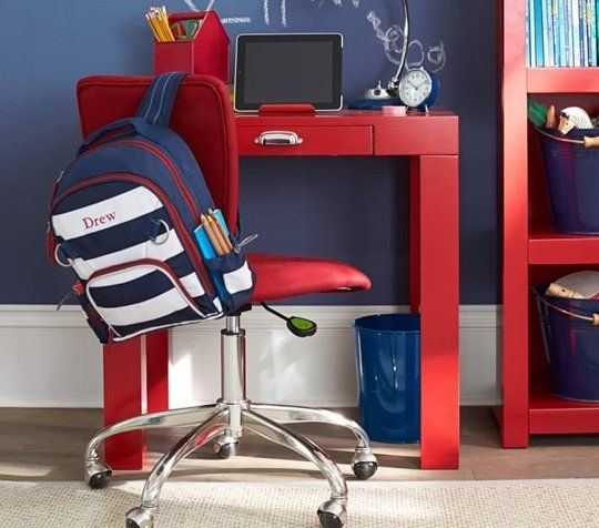 Parsons Mini Desk With Handle Red