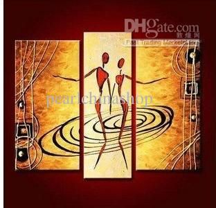 HOT SALing Modern ABSTRACT Oil Painting On Canvas abstrac dancing lover for office free shipping