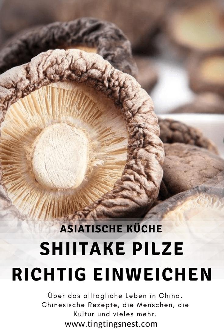 Getrocknete Shiitake Pilze Richtig Einweichen Ting Ting S Nest Shiitake Pilze Shiitake Pilze
