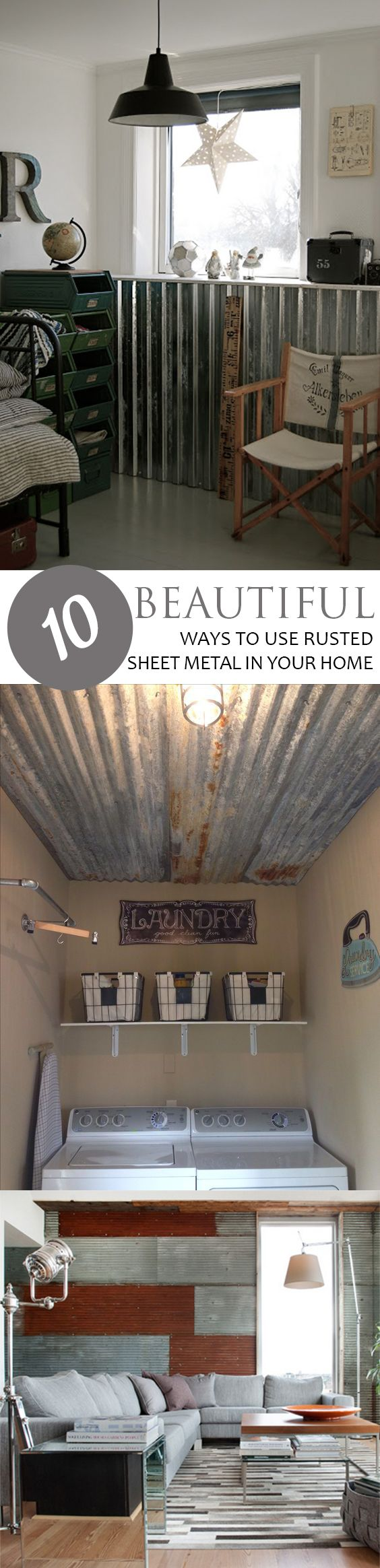 - 10 Beautiful Ways To Use Rusted Sheet Metal In Your Home Diy