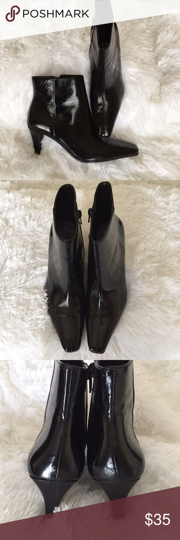 Etienne Aigner Black Booties Shiny black Etienne Aigner black ankle boots. Etienne Aigner Shoes Ankle Boots & Booties