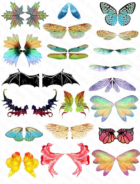 picture regarding Free Printable Fairy Wings identified as Transformed Artwork Fairy Wings (No. 1) great Alas de hadas, Alas
