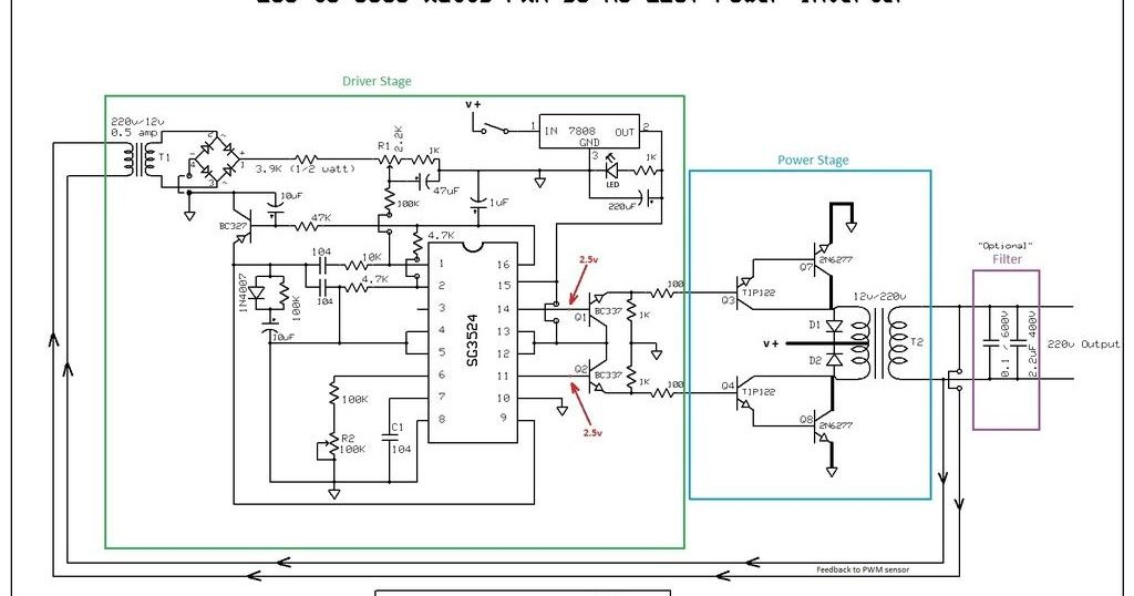 This is my schematic design of a Pulse Width Modulator DC/AC ...