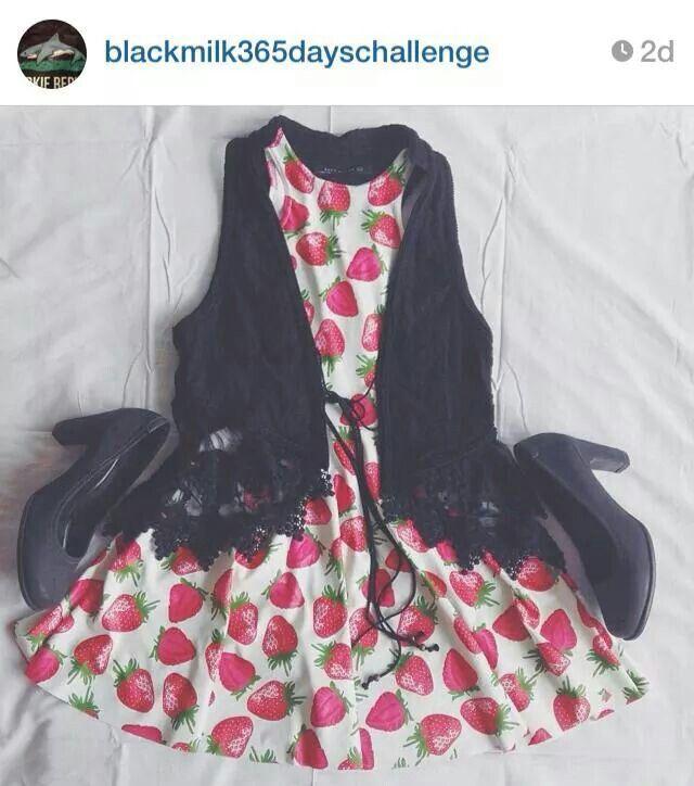 Sweet Strawberry skater dress