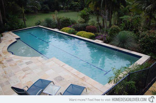 15 Fascinating Lap Pool Designs Home Design Lover Lap Pools Backyard Lap Pool Designs Wooden Pool