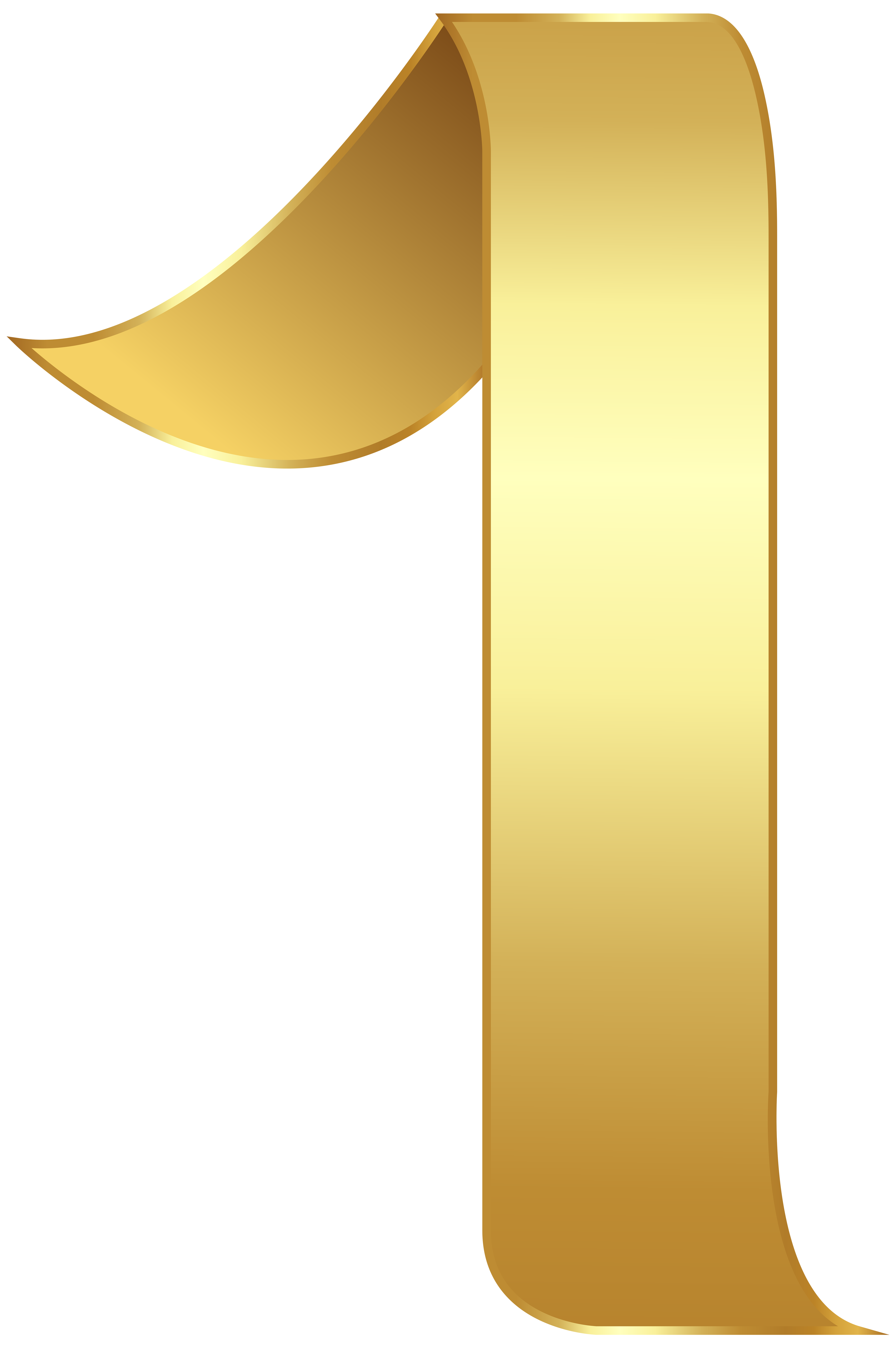 Golden Number One Transparent PNG Clip Art Image Clip