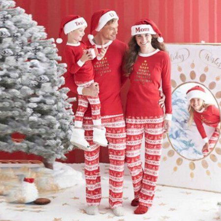 wllw children adult family matching christmas family pajamas set walmartcom welcome santa