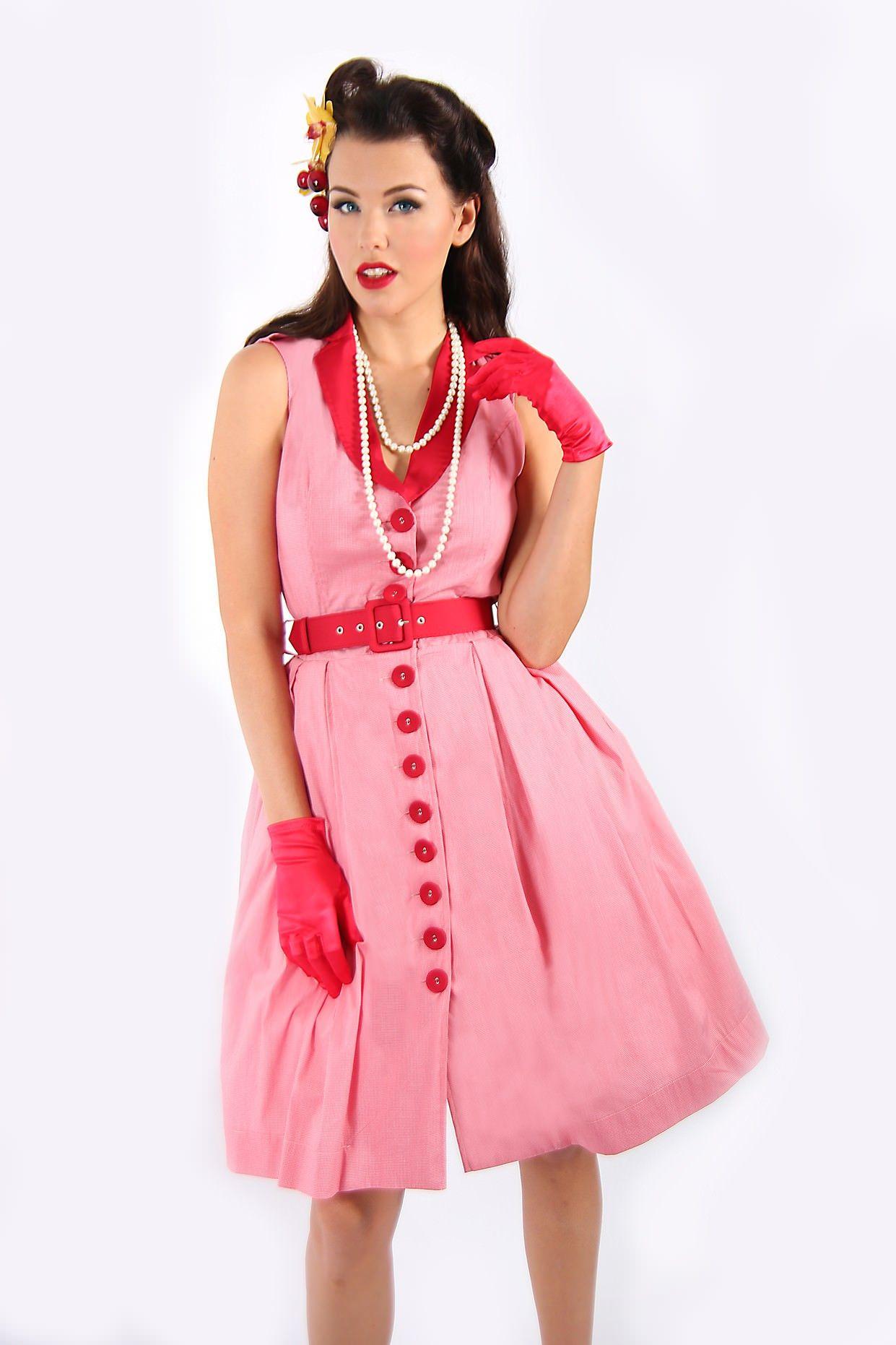 Girl Crazy Red Collar Dress   pin up   Pinterest   Fotografía