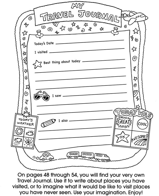 free printable travel journal pages templates activities