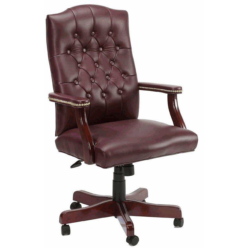 Leather Office Desk Chair Lederstuhle Burostuhl