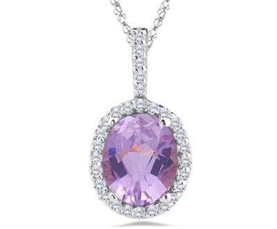 14 021 027 ct diamond 3 ct kunzite pendant in 14k white 14 021 027 ct diamond 3 ct kunzite pendant mozeypictures Gallery