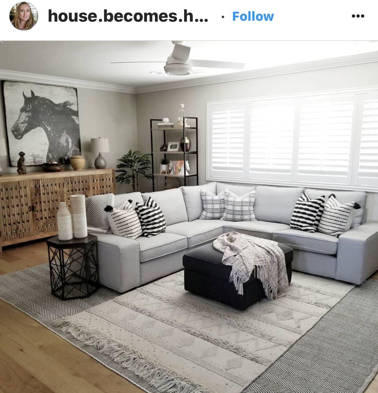 ikea kivik 4 seat corner sectional  home living room