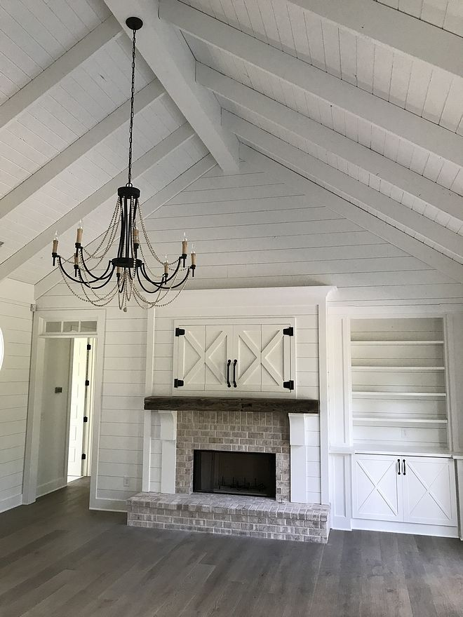 Grand Fireplace W Vaulted Ceilings Beams Open Floor: Farmhouse Ceiling Farmhouse Shipla Ceiling How To Do A