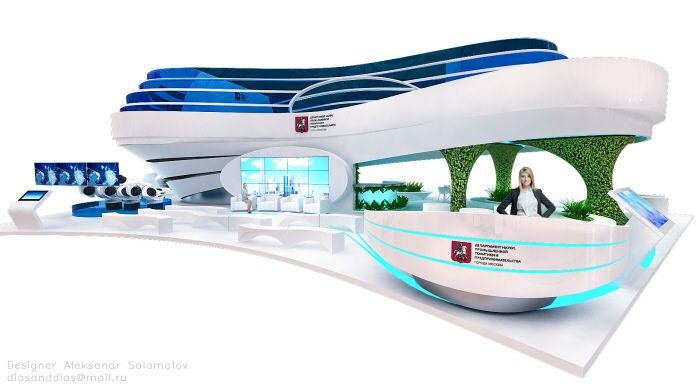 стенд Правительство Москвы by Aleksandr Salamatov at Coroflot.com
