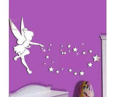 GIRL/'S Chambre à Coucher Décor DISNEY PRINCESSES Décoration Papillon 3d Autocollant belle