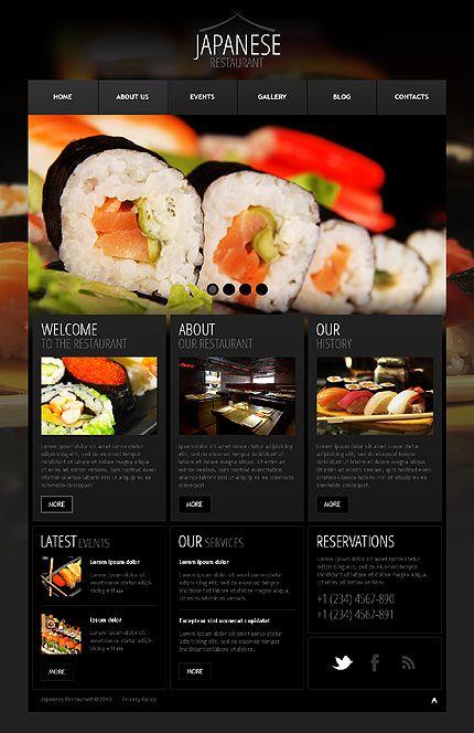 Seafood restaurant wordpress theme restaurants website