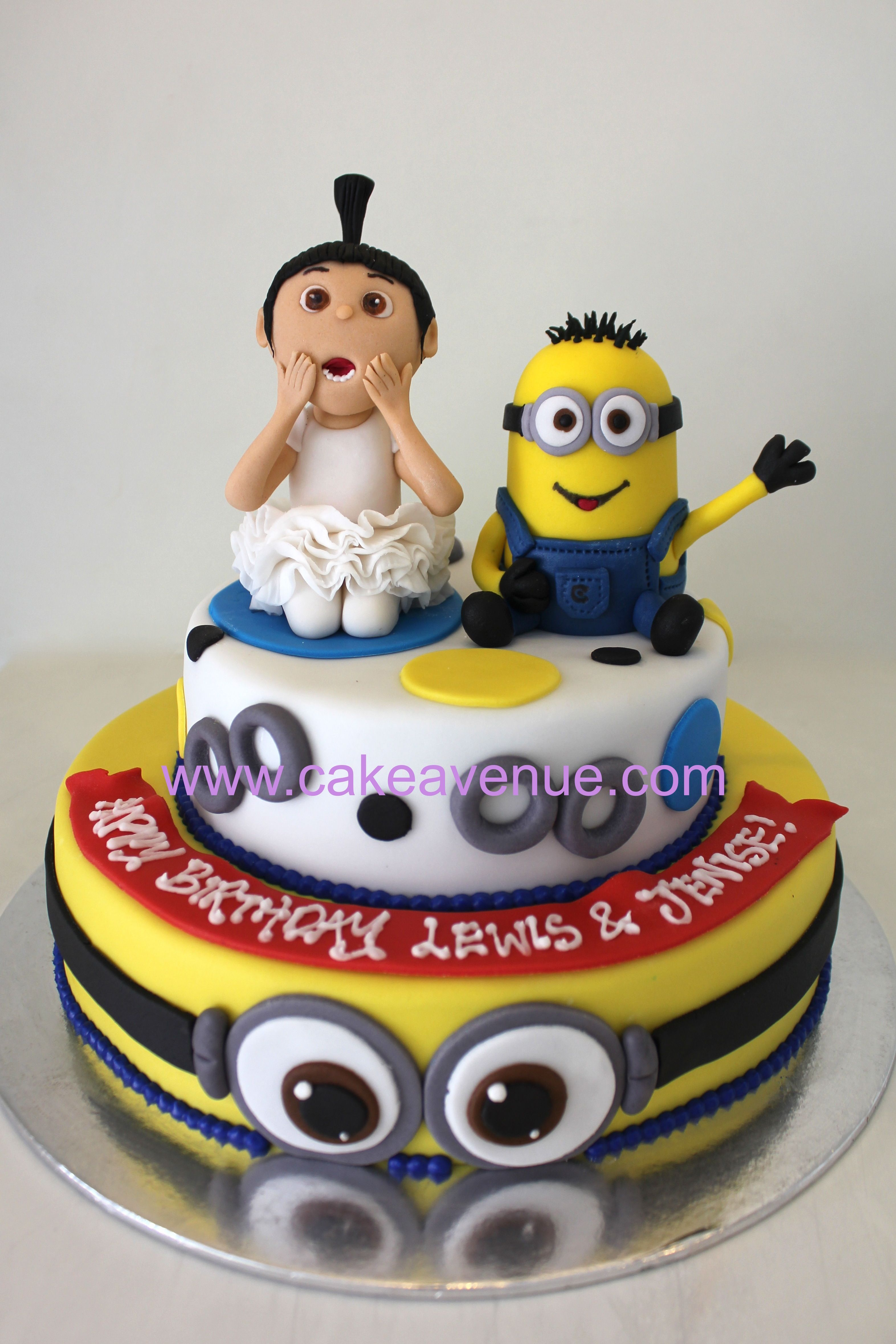 Super Despicable Me Agnes Minion Minion Birthday Cake Despicable Personalised Birthday Cards Rectzonderlifede